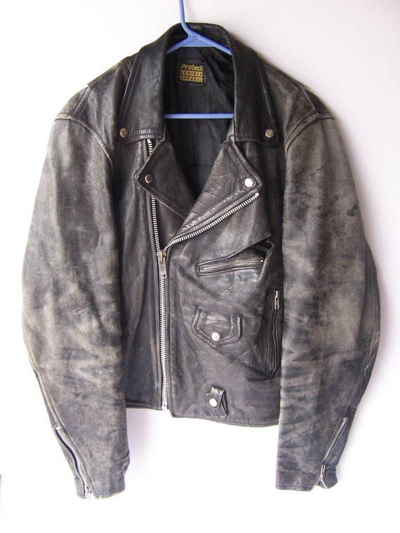Vintage Distress Motorcycle Leather Jacket