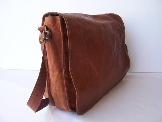 Vintage Rustic LABTOP Messenger Leather Satchel