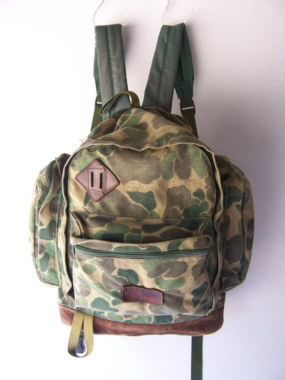 Vintage CABELA's Camo Military Rucksack