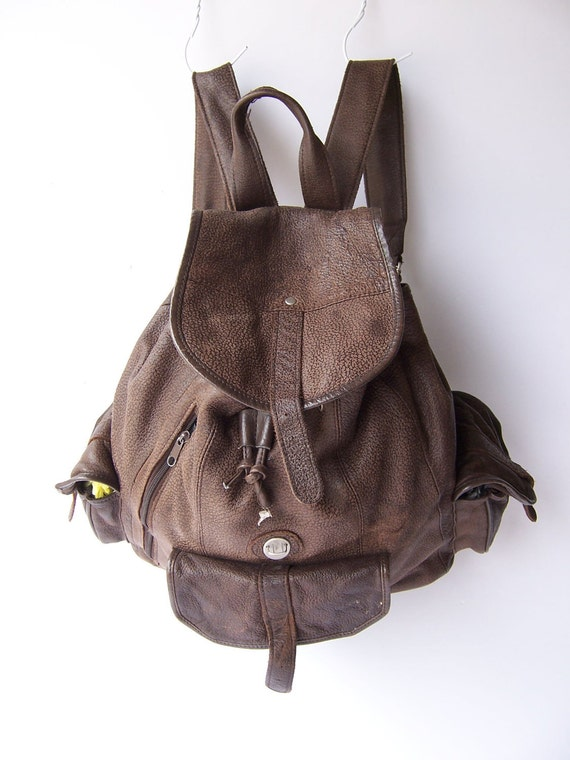 Vintage Chocolate Leather Rucksack