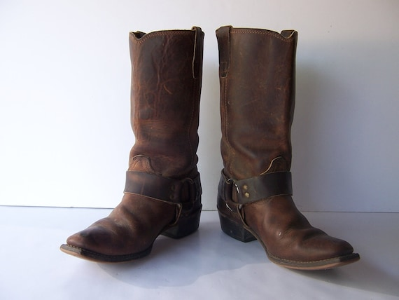 Vintage Womens Motorcycle Harness Boots RESERVED