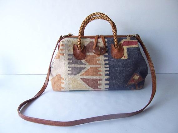 Vintage Southwestern Carpet Purse Bag