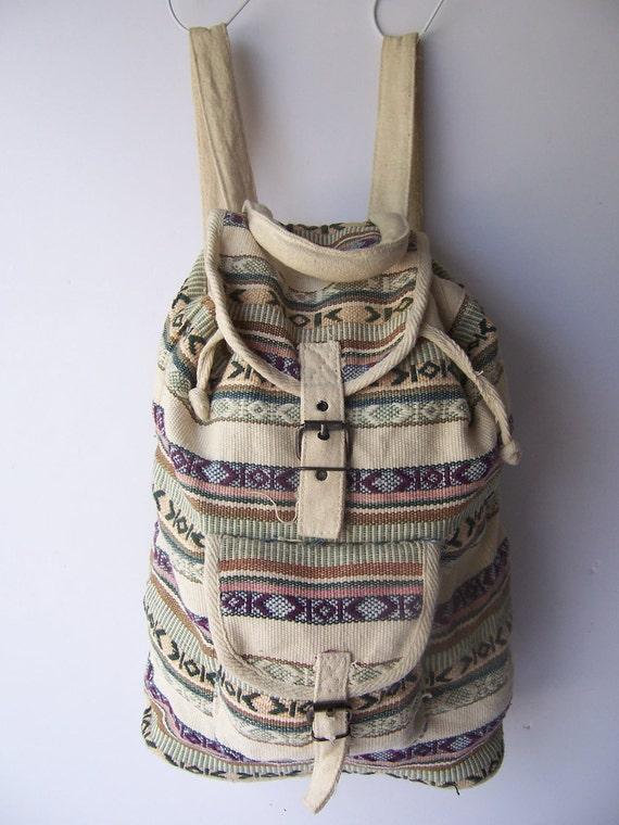 Vintage Southwestern Tribal Backpack