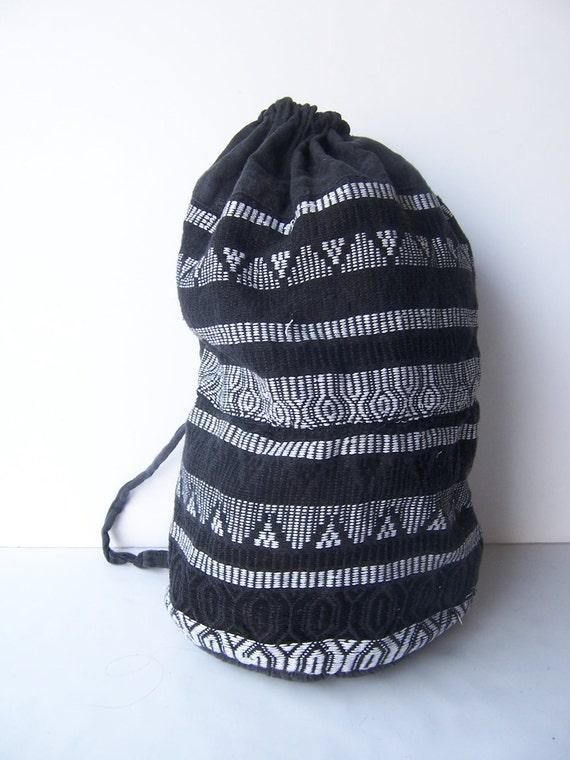 Vintage Southwestern Drawstring Backpack