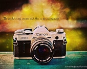 Vintage Canon Camera - gift for photographer - art print 5x7 photography print - home or office decor