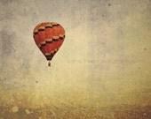 Vintage Hot Air Balloon - 8 x 8 print