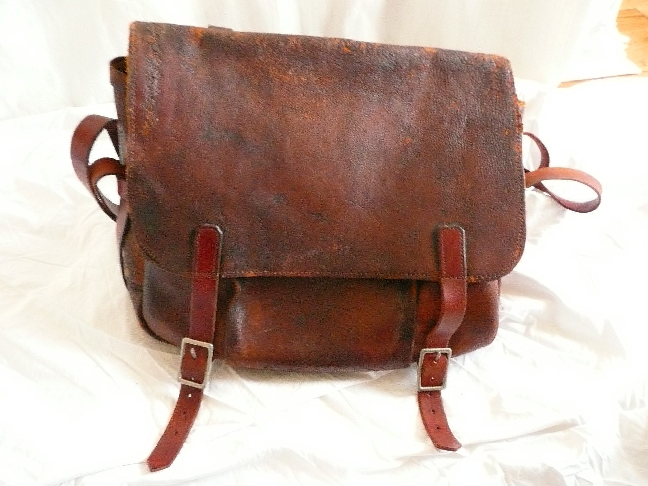 1964 Vintage Leather US Mail Bag Satchel