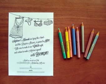Lingerie Shower Invitation//PDF Only//Personalization//Bachelorette Shower