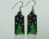 Winter Tree Beaded Earrings