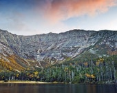 Chimney Pond view of Mount Katahdin during the fall, Baxter State Park, Maine - 11x14 inch Photographic Print by Brendan Reals