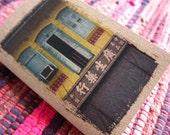 Shophouse Notebook 20. Singapore Shophouse Turquoise Windows - Mini Travel Pocket Diary