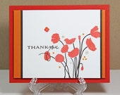 Scarlet poppies thank you card