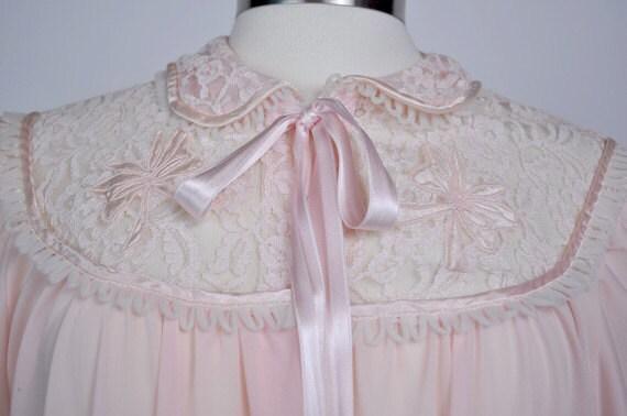 Creamy Pink Lace Robe