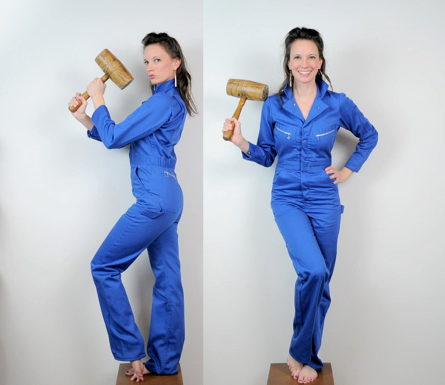 Model Cheap Women  Men Work Overalls Combinaison Coveralls One Piece