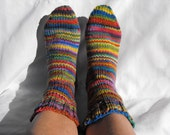 Rainbow Womens Sock Socks Size 7 8 shoe Ready to Ship