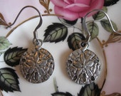 FREE SHIPPING -  Down By The Beach Sand Dollar Dangle Earrings