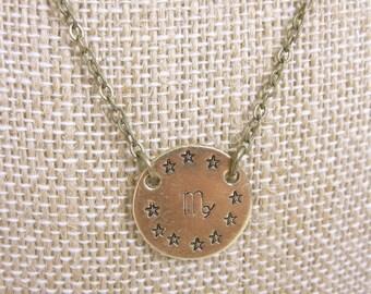 Virgo Necklace Zodiac Necklace Astrology Jewelry Virgo Jewelry Zodiac Jewelry