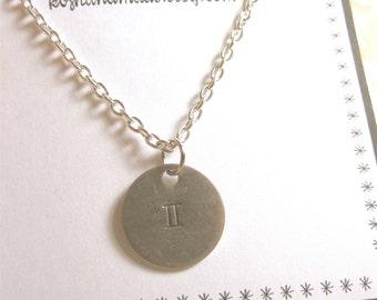 Gemini Necklace Zodiac Necklace Zodiac Jewelry Gemini Jewelry