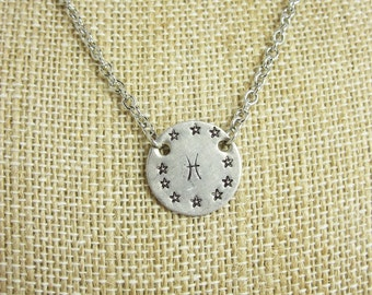 Pisces Necklace Zodiac Necklace Astrology Necklace Personalized Jewelry
