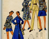 Vintage Dress or Tunic, Shirt, Skirt, Pants and Shorts Sewing Pattern - Butterick No. 6154 - Size 12