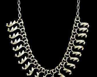 Ocean Waves Silvertone  Vintage Necklace by Sarah Coventry