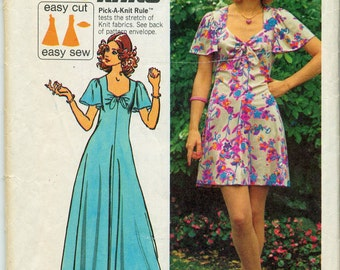 Vintage Jiffy Knits Dress Sewing Pattern Simplicity No. 5451 - Size 12 - Bust 34