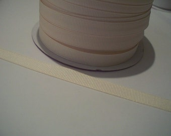 Ivory Ribbon-5 Yards of  3/8 Inch Grosgrain Ribbon JUST IN!!