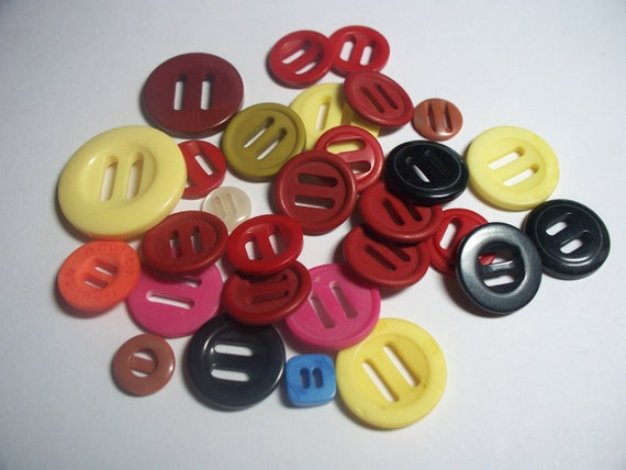 Assorted Slatted Buttons