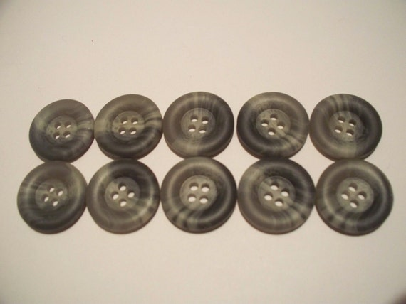 Gray Marbled Buttons