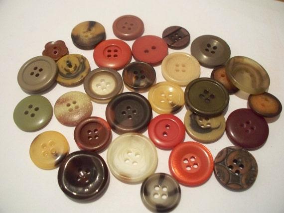 Earthtone Buttons