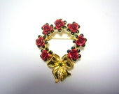 Avon Red Rose Wreath with Bow (signed) in original box