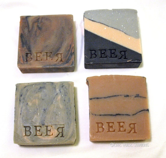 The Wisconsin Beer Soap Collection 4 Cold Process Soaps made with 4 different Wisconsin Beers - Great Man Gift