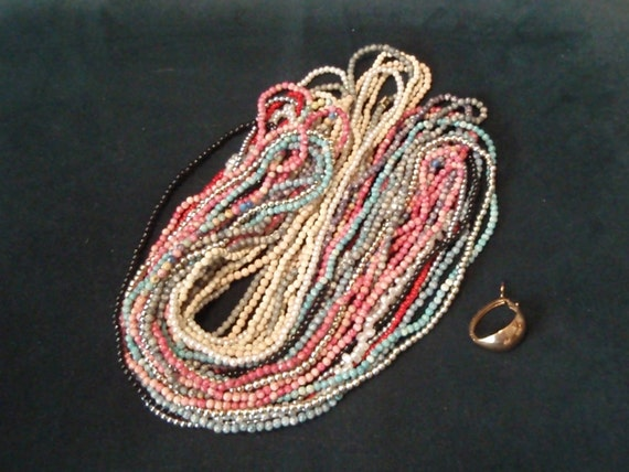 Vintage 1980s Twist Beads and clasp