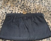 Little Black Purse, You Need This One in your wardrobe, Vintage Black Fabric Evening Purse, Made in USA by After Five