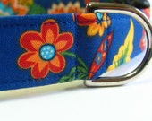 Blue Floral Collar