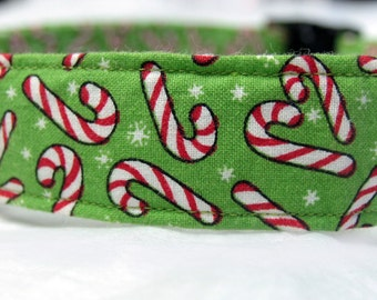 Christmas Candy Cane Collar