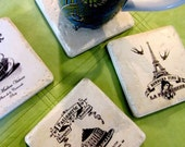 The French Patisserie     set of 4 Italian stone coasters