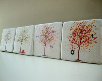Tree coasters for all seasons