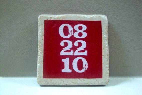 Save the Date, set it in stone, Italian stone