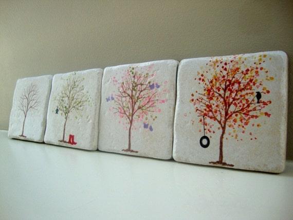 Tree coasters for all seasons
