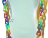 Rainbow Fruity Loops Vintage 80's Necklace