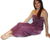 RESERVED Vintage 70s Purple Grecian Bohemian Hippie Maxi Dress- Size XS/S