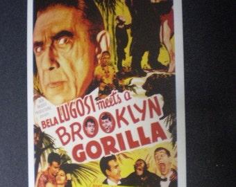 postcard  BELA  LUGOSI  Meets Aa Brooklyn Gorilla   '52  B  Movie