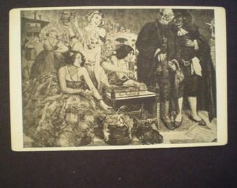 orig  MARTINI Caffe Ristorante DANCING advertising postcard art by G. Cherubini 1910