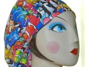Rainbow Clown Fish Banded Bouffant Surgical Cap by Nurseheadwear