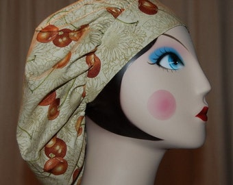 CHERRIES AND SUNFLOWERS Banded Bouffant Surgical Cap by Nurseheadwear