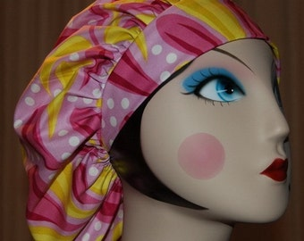 PINK LEMONADE Banded Bouffant Surgical Cap by Nurseheadwear