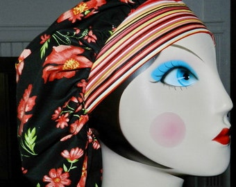 Poppy Power Banded Bouffant Surgical Cap