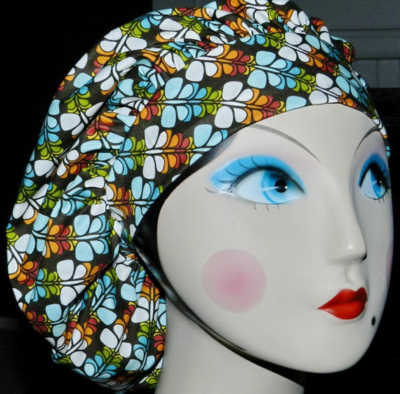 Modern Retro Butterfly Banded Bouffant Surgical Cap