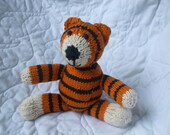 Made to Order - Your Choice of Hand Knit Tiger, Bear, or Elephant